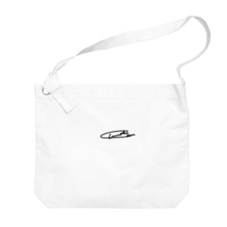 いわしチャンのいわしチャン 粋なサイン Big shoulder bags