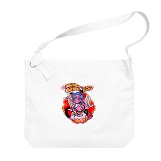 虎メイドイン極楽 Big shoulder bags