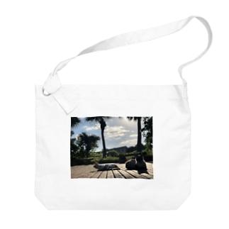 沖縄の野良猫 Big shoulder bags