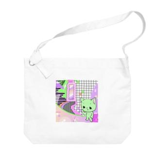 What is cute? メロンクリーム猫さん Big shoulder bags