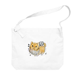 ⭐︎ミントくん 茶 Big shoulder bags