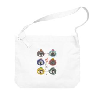 ブル号機オリジナルグッズ Big shoulder bags