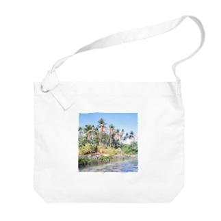 ミクロネシア:ナンマトル遺跡の風景写真 Micronesia: Nan Madol / Pohnpei Big shoulder bags