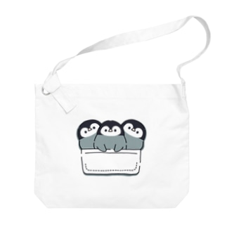 DECORの心くばりペンギン 一緒にお出かけVer. Big shoulder bags