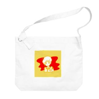 オムライス Big shoulder bags