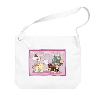 お菓子なユニコーン Big shoulder bags