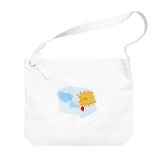 北風と太陽(背景透明) Big shoulder bags