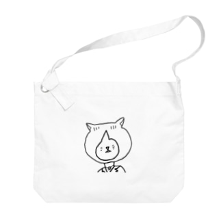 ネコ氏(白) Big shoulder bags
