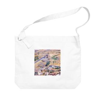 スペイン:セゴビア郊外の村の風景 Spain: view of a village near around Segovia Big shoulder bags