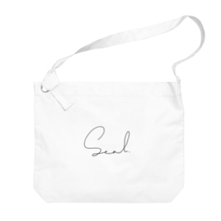 あざらしロゴ(おしゃれ) Big shoulder bags