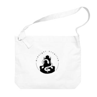 真夜ビバロゴ(黒) Big shoulder bags