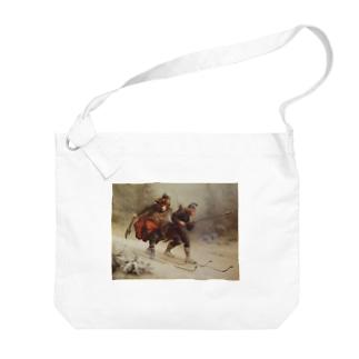 Knud Bergslien《Skiing Birchlegs 王子と山を渡る》 Big shoulder bags