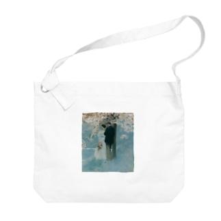 ハワード・パイル 《春・桜の木の下で》 Big shoulder bags