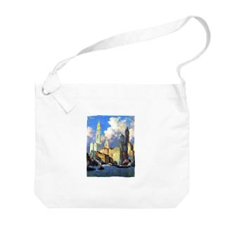 コリン・キャンベル・クーパー 《ハドソン河畔》 Big shoulder bags