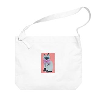 シャムネコちゃん Big shoulder bags