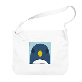 正面ペンギンバッグ Big shoulder bags