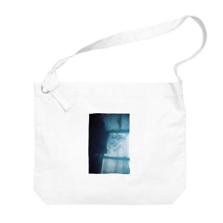 Blue Big shoulder bags
