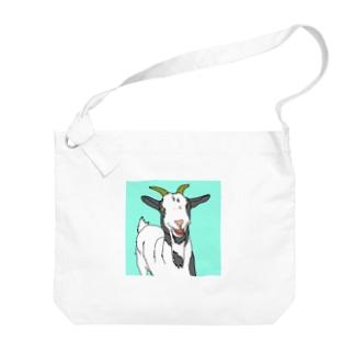 笑うヤギ Big shoulder bags