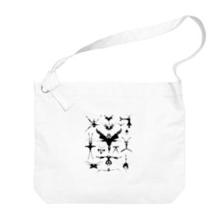 霧蛾夢虫01 Big shoulder bags