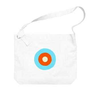 サークルa・水色3・オレンジ・クリーム Big shoulder bags