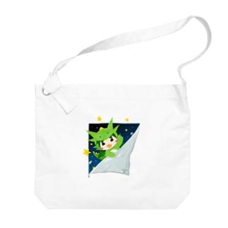 宇宙からひょっこりテン Big shoulder bags