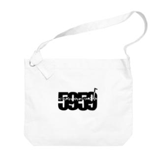 5959ロゴ Big shoulder bags