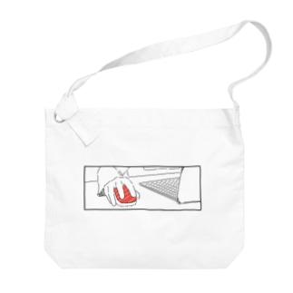 マウスかと思ったら寿司を握っている人 Big shoulder bags