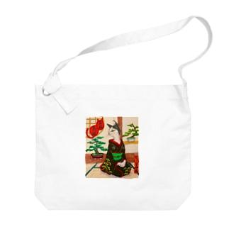 盆栽美人猫 Big shoulder bags