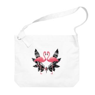 フラミンゴ Big shoulder bags
