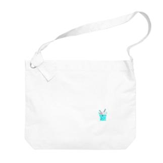 ドット絵クリームソーダ Big shoulder bags
