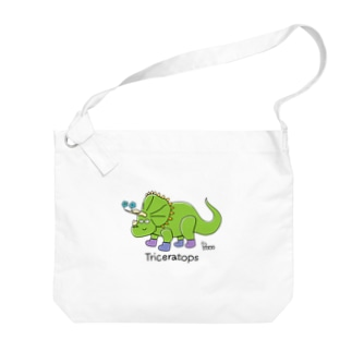 トリケラトプスさん Big shoulder bags