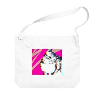 あふぐろ屋の色収差猫 Big shoulder bags
