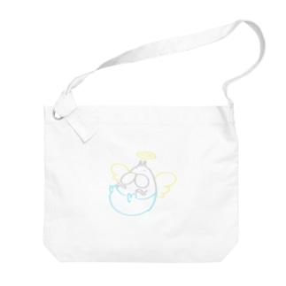 ねこタイツ エンジェル ライン Big shoulder bags