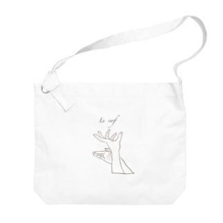 Jackalope  series  【雄鹿】 手影絵 Big shoulder bags