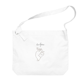 Jackalope series 【雌兎】 手影絵 Big shoulder bags