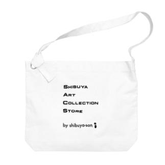shibuya-san art collection storeのSACS Shibuya Art Collection Store公式グッズ(ロゴ) Big shoulder bags