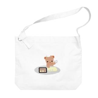 クッキーとクマさん Big shoulder bags