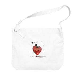 Peace cat Big shoulder bags