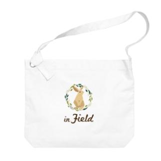 in Field ロゴ Big Shoulder Bag