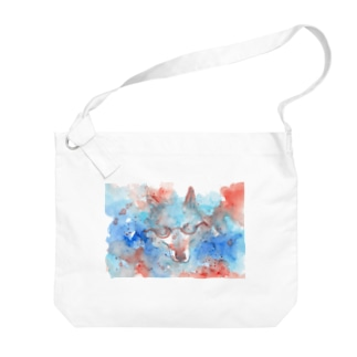 May wolf with glasses Big shoulder bags
