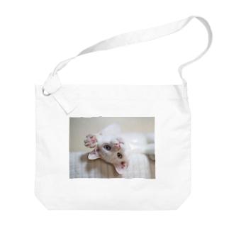 招き猫 珀ちゃん Big shoulder bags