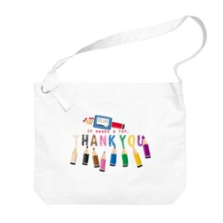 *suzuriDeMONYAAT*のCT155 ちびた色鉛筆*A Big Shoulder Bag