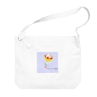 Grape Fruits Moon クレープ Big shoulder bags