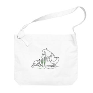 ノーマルサイズ*CT159 ネギを値切っている鴨カモ*A Big Shoulder Bag