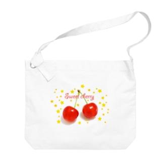 さくらんぼ Big shoulder bags