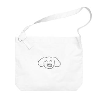 ガミースマイルいぬうさぎ Big shoulder bags