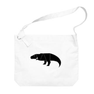 ティラノサウルス Big shoulder bags