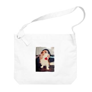 キャバリアキングチャールズスパニエル(retro) Big shoulder bags