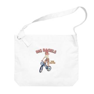 """""""big bagels"""" Big Shoulder Bag"""