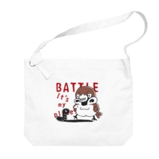CT166 スズメがちゅん*BATTLEちゅん Big Shoulder Bag